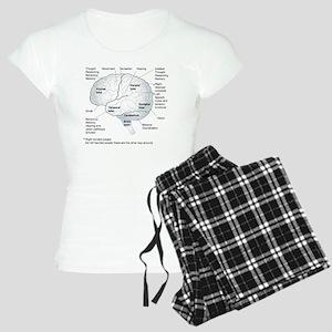 Functional areas of the bra Women's Light Pajamas