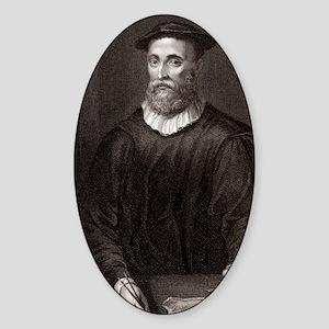 John Knox, Scottish theologian Sticker (Oval)