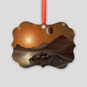 Globular cluster, artwork Picture Ornament
