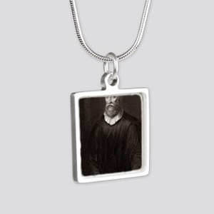 John Knox, Scottish theolo Silver Square Necklace