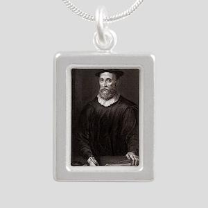 John Knox, Scottish theo Silver Portrait Necklace