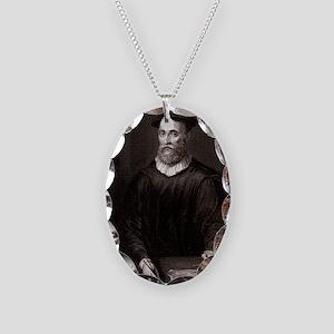 John Knox, Scottish theologian Necklace Oval Charm