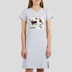 Maine State Animals Women's Nightshirt