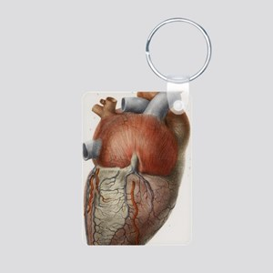 Heart anatomy, 19th Centur Aluminum Photo Keychain