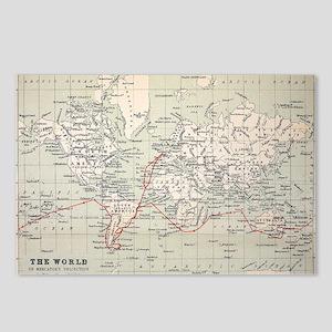 Map Darwin's Beagle Voyag Postcards (Package of 8)