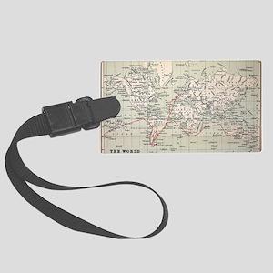 Map Darwin's Beagle Voyage South Large Luggage Tag