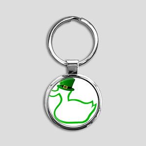 Irish Ducky Round Keychain