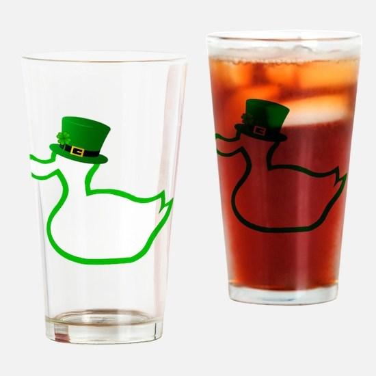Irish Ducky Drinking Glass