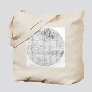 Northern hemisphere map, 16th Century Tote Bag