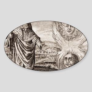 Hermes Trismegistus, classical god Sticker (Oval)