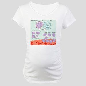 Human immune response, artwork Maternity T-Shirt