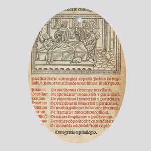 Italian book on surgery, 1514 Oval Ornament