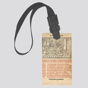 Italian book on surgery, 1514 Large Luggage Tag