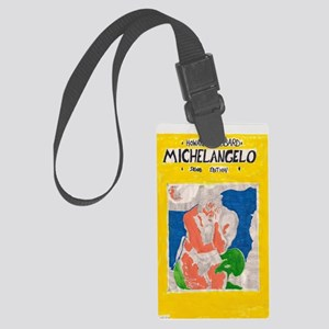 miguel angelo Large Luggage Tag