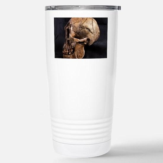 Homo floresiensis skull Stainless Steel Travel Mug