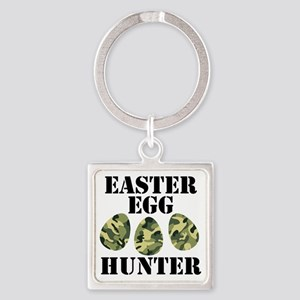 Easter Egg Hunter Square Keychain