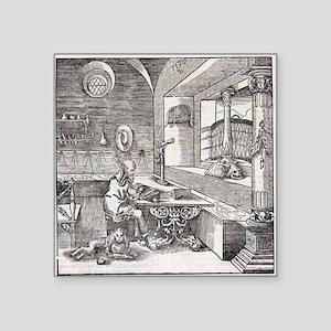 "Saint Jerome, 16th-century  Square Sticker 3"" x 3"""