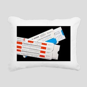 Slide Chart Calculators Rectangular Canvas Pillow