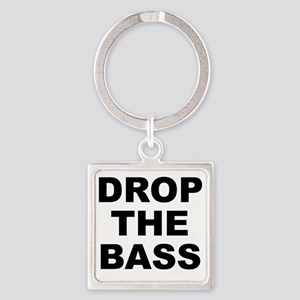 DROP THE BASS Square Keychain