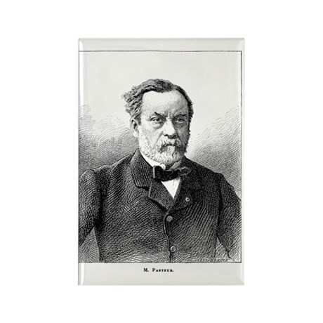 Louis Pasteur, French microbiolog Rectangle Magnet