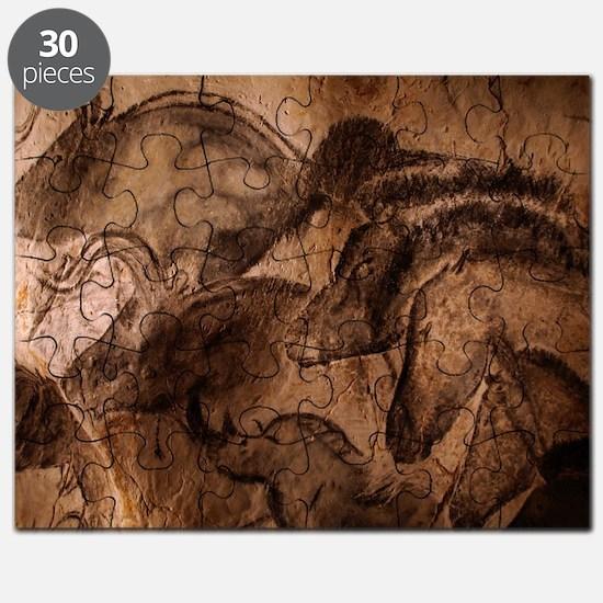 Stone-age cave paintings, Chauvet, France Puzzle