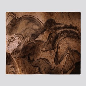 Stone-age cave paintings, Chauvet, F Throw Blanket