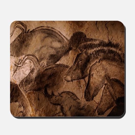 Stone-age cave paintings, Chauvet, Franc Mousepad