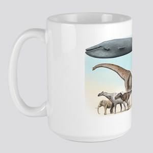 Largest animals size comparison Large Mug