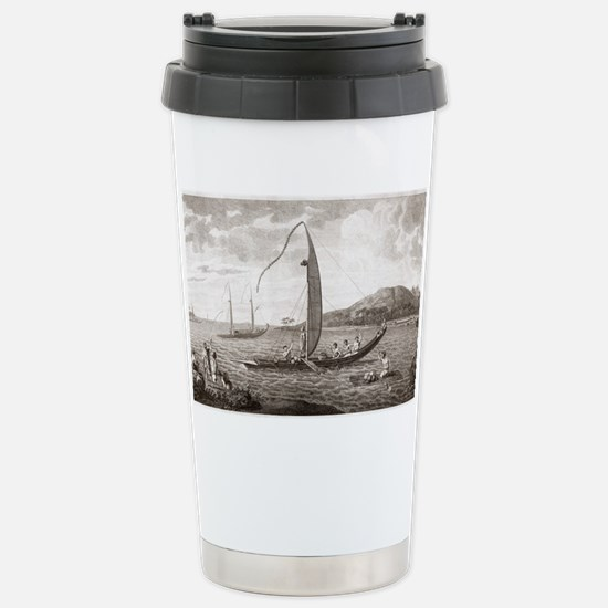 Tahiti seen from the se Stainless Steel Travel Mug