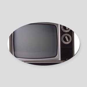 television Oval Car Magnet