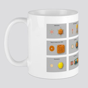 Virus types, artwork Mug