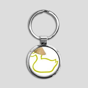 Viet Ducky Round Keychain