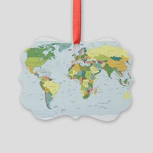 World Atlas Picture Ornament