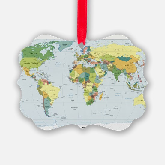 World Atlas Ornament