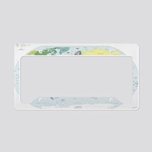 World Atlas License Plate Holder