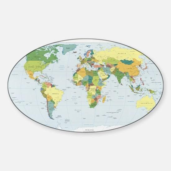World Atlas Sticker (Oval)