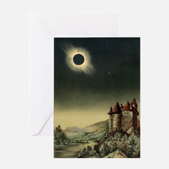 Total solar eclipse of 1842 Greeting Card
