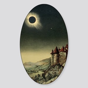 Total solar eclipse of 1842 Sticker (Oval)