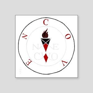 """Coven Magick Sigil Square Sticker 3"""" x 3"""""""
