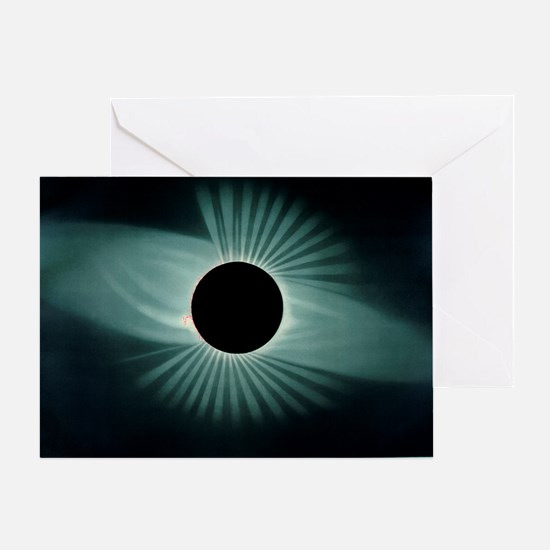 Total solar eclipse, 1878 Greeting Card