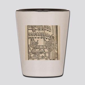 Physician and apothecary, 15th century Shot Glass