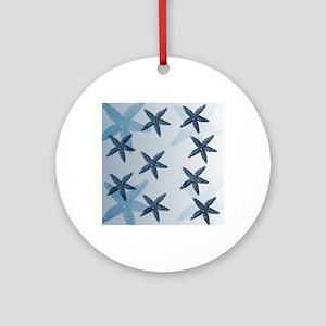 Starfish Round Ornament