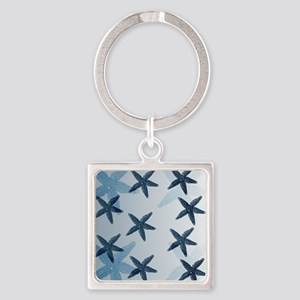 Starfish Square Keychain