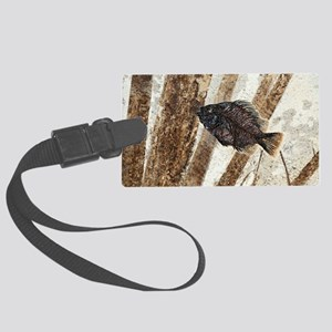 Priscacara fossil fish Large Luggage Tag