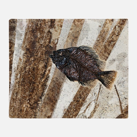 Priscacara fossil fish Throw Blanket