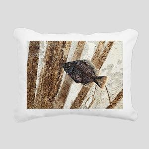 Priscacara fossil fish Rectangular Canvas Pillow
