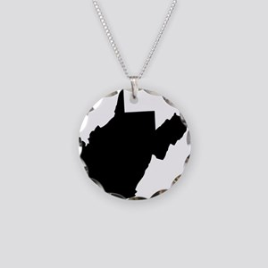 Black Necklace Circle Charm