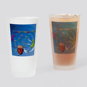 Protein translation, artwork Drinking Glass