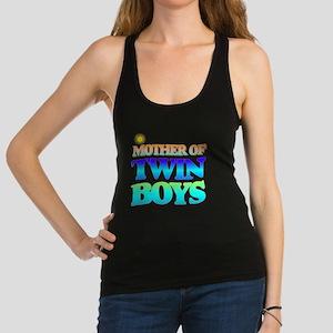 Twin boys mother Racerback Tank Top
