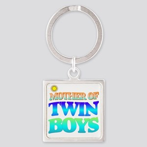 Twin boys mother Square Keychain